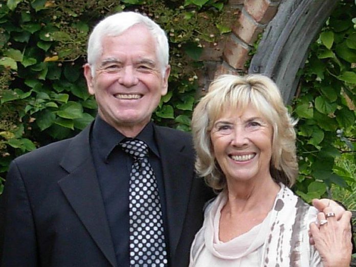 Uwe Meyer and his wife Andrea Wigmore Patterson. Meyer passed away peacefully at his home on April 24, 2021 at the age of 71. (Photo courtesy of the family)