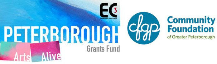 The strategic recovery and resilience grants available from the Peterborough Arts Alive Fund are jointly administered by Electric City Culture Council and Community Foundation of Greater Peterborough. (Graphic:  Electric City Culture Council)