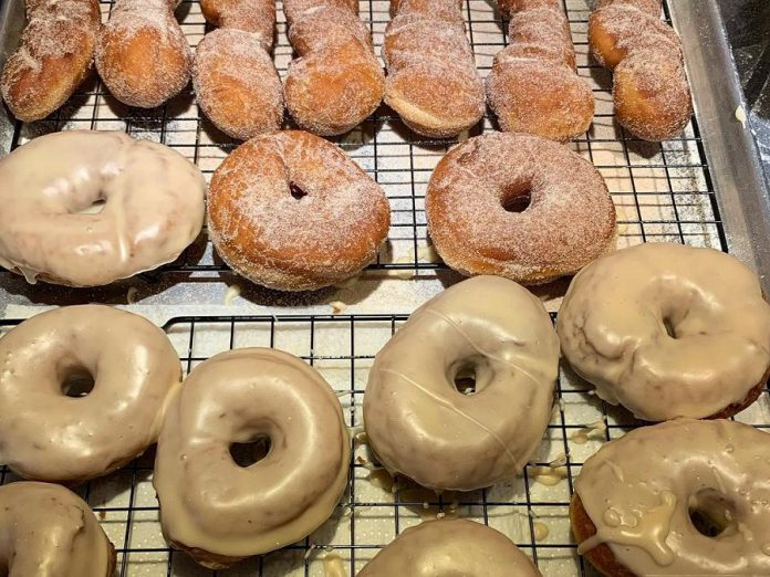 Mike Frampton originally planned to sell his fresh handmade donuts, all-day breakfast, and locally roasted coffee from his food truck. Now he will be opening a retail location on Water Street in downtown Peterborough.  (Photo: Tragically Dipped Donuts)