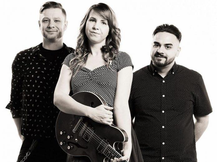 Dawson McManus, Emily Burgess, and Marcus Browne of Emily Burgess & The Emburys. (Photo: Adam Guppy Photography)