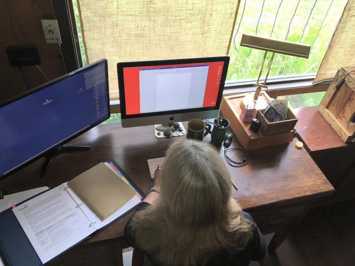 According to a recent Statistics Canada report, 80 per cent of people currently working from home due to the pandemic would like to continue with this arrangement for at least half of their worktime once the pandemic is over. (Photo: Lyn Jones)