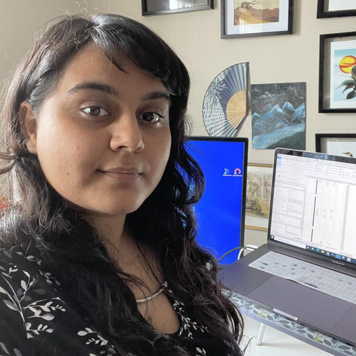 Divya Dhingra, junior project lead at Lett Architects in Peterborough, says her employer has strong strategies in place to support employee communication and social needs when working from home. (Photo: Divya Dhingra)