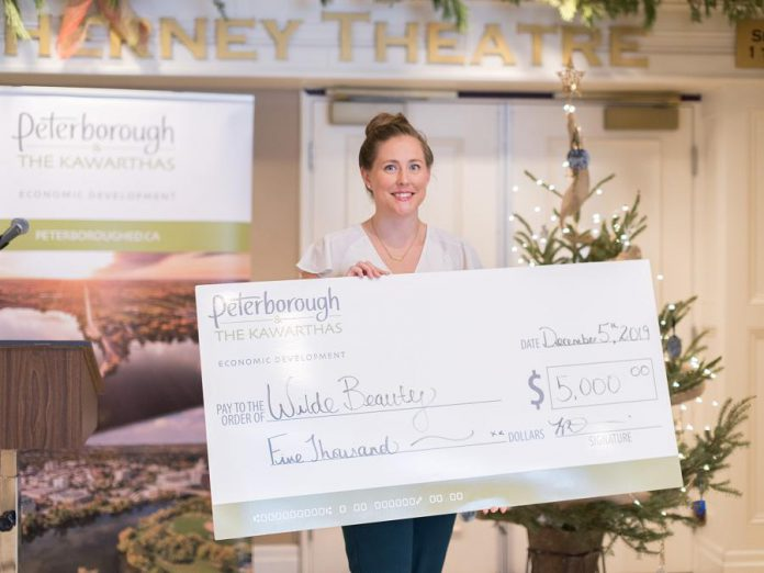 Katelin Turcotte, owner of home-based preventative foot care and education business Wilde Beauty, received a $5,000 mircogrant in December 2019 after participating in the Starter Company Plus program. (Photo: Peterborough & the Kawarthas Economic Development)