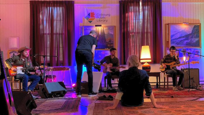 Greg Keelor recorded a live performance of his latest solo record 'Share The Love' over two days in fall 2020 at Gores Landing Community Hall south of Rice Lake, with a band featuring Peterborough-area musicians Jim Bowskill, James McKenty, Ian McKeown, Melissa Payne, and Kyler Tapscott along with Blue Rodeo's Glenn Milchem. (Photo: Greg Keelor / Facebook)