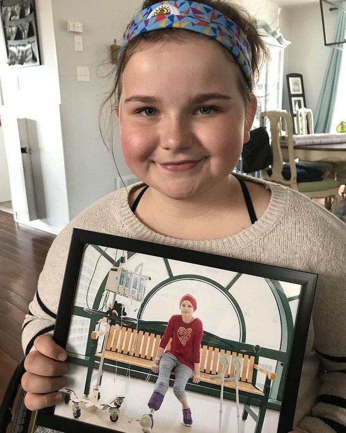 Neave Alderson, a 13-year-old cancer survivor in Peterborough, Ontario, Canada