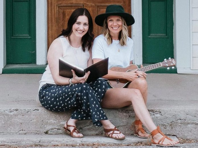 """Storyteller Megan Murphy and singer-songwriter Kate Suhr, joined by musician Saskia Tomkins, will be bringing The Verandah Society to the Winslow Farm in Millbrook for 10 performances in late August 2021, in lieu of the originally scheduled performance of Maja Ardal's play """"Wishful Seeing"""", which 4th Line Theatre has postponed until summer 2022 due to the pandemic. (Photo: The Verandah Society / Facebook)"""