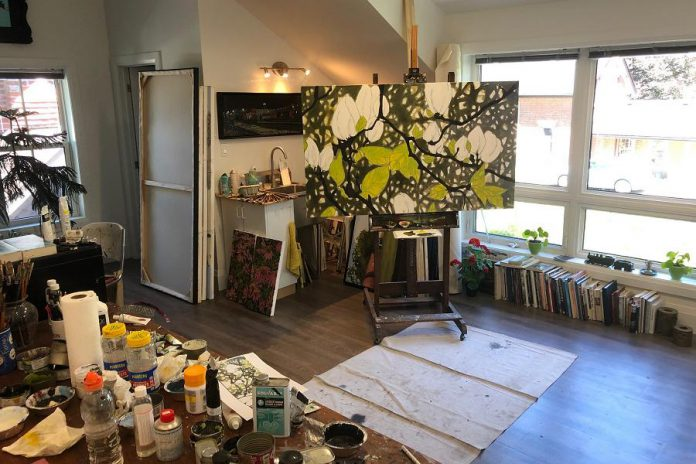 The studio of well-known artist Peer Christensen, who studied classical oil painting through the University of Victoria and has lived in Peterborough since 1985. Many of the artists participating in the Kawartha Autumn Studio Tour contribute regularly to programming at the Art Gallery of Peterborough. Christensen is one of 43 artists participating in the 2021 Kawartha Autumn Studio Tour. (Photo courtesy of Art Gallery of Peterborough)
