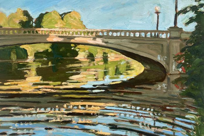 Detail from 'Inver Lea', a 2020 oil painting by John Climenhage, one of 43 artists participating in the 2021 Kawartha Autumn Studio Tour. Climenhage has been painting, teaching, and exhibiting throughout Canada and the U.S. since 1989. (Photo courtesy of Art Gallery of Peterborough)