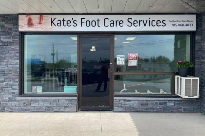 Kate's Foot Care Services is located at 889 Ward Street in Bridgenorth. (Photo: Kate's Foot Care Services / Facebook)