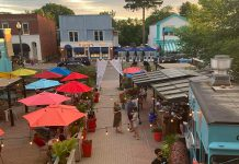 El Patio at 58 Bolton Street in Bobcaygeon, the largest outdoor patio in the Kawarthas, is now open for outdoor dining. In 2018, owner Kathleen Seymour-Fagan relocated her Kawartha Coffee Co. business to the building formrly known as The Doctor's Office, across the road from the restaurant's previous location at 49 Bolton Street, and created the patio. In summer 2020, she renamed and rebranded the patio as El Patio to reflect its festive decor and focus on Mexican food and drinks. (Photo courtesy of Kathleen Seymour-Fagan)