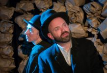 From Thursday, June 10 to Saturday, June 12, The Theatre On King in Peterborough is presenting 'Testing', a free 10-minute monologue written and performed live on Zoom by Dan Smith and directed by Kate Story. Pictured are Story and Smith at The Theatre on King during a May 2016 production of Samuel Beckett's 'Waiting for Godot'. (Photo: Andy Carroll)