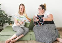 After having to shut down because of the pandemic, Play Cafe owner Sarah Susnar (right) partnered with Sonja Martin (left) in fall 2020 to rebrand and expand Play Cafe as Lavender and Play, a family boutique and studio that doesn't rely on groups of children for its revenue. The Ontario government has denied Lavender and Play's application for the Ontario Small Business Support Grant because it considers it to be a different business than Play Cafe for the grant's revenue eligibility criteria. (Photo: Lavendar and Play)