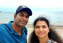 Gayathri Rajan (right) first came to Canada from India in 2014 with her husband Prabhakar (left) along with their then five-year-old son Sandeep, and had their second child Vetri while living in Canada. Gayathri, who says she felt at home in Canada after only a month, has been sharing her authentic Indian food recipes on her YouTube channel and has since expanded her recipes to include food from other countries including Canada. (Photo: Prabhakar Rajan)