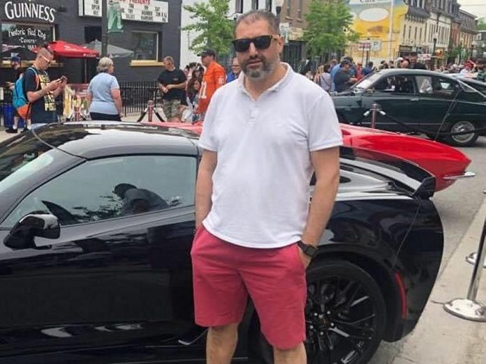 Imad Mahfouz during a pre-pandemic event in downtown Peterborough. The pandemic has temporarily put on hold Imad's plans to open a Syrian restaurant in Peterborough. While living in Syria in 1995, he opened his own restaurant called Liwan Alsham. (Photo courtesy of the Mahfouz family)