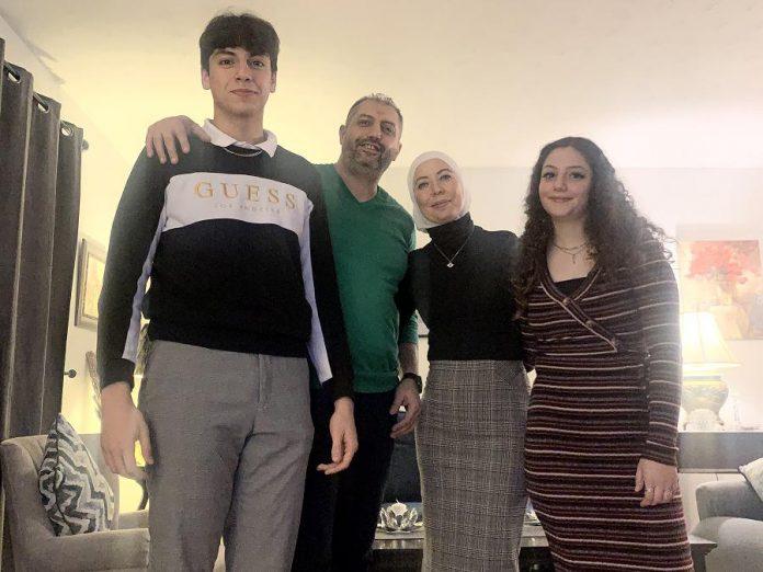 The Mahfouz family today: Abdullah, Imad, Nerveen, and Zeina. (Photo courtesy of the Mahfouz family)