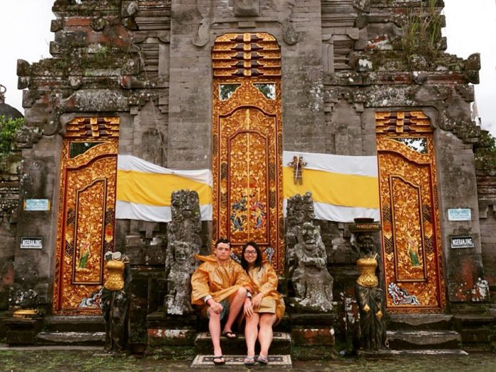 Jessie and her husband Dmitry during a pre-pandemic trip to Indonesia. The couple, who decided to settle in Peterborough after they got married, now both work for Trent University. (Photo courtesy of Jessie Iriwanto)