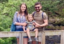 In 2019, Tuncay Alkan (right) and his family moved from Turkey to Peterborough, his wife Laura's home town. Tuncay loves to cook and plans to open his own café in Peterborough one day. He and his family also enjoy exploring trails and nature and have a goal to explore one new location every week. (Photo courtesy of the Alkan family)