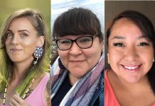 Jennifer Alicia, D.B. McLeod, and Stephanie Pangowish are three of the artists performing at the Nogojiwanong Indigenous Fringe Festival in Peterborough from June 23 to 27, 2021. (Collage: kawarthaNOW)