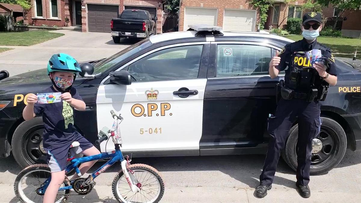 OPP handing out thousands of 'positive tickets' this summer to reward kids for positive acts and behaviour   kawarthaNOW