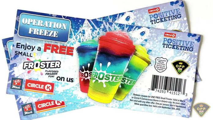 'Operation Freeze' is a partnership between Circle K convenience stores and the OPP. (Photo: OPP)