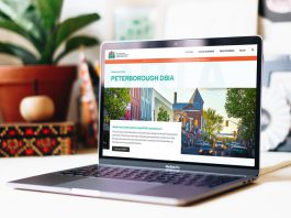 The Peterborough Downtown Business Improvement Area (DBIA) has rebranded with a new logo and has launched a new website. (Photo courtesy of Peterborough DBIA)