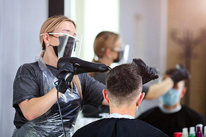 When Ontario enters step two of its reopening plan on June 30, personal care services will be able to reopen with face coverings worn at all times and at 25 per cent capacity. (Stock photo)