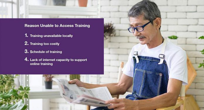 The reasons why respondents to the Workforce Development Board's 2021 EmployerOne Survey have been unable to access training for employees. (Graphic: Workforce Development Board)