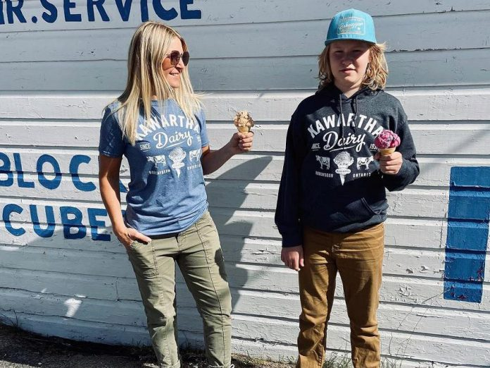 Bobcaygeon's Douglas + Son and Kawartha Dairy have collaborated on a line of Kawartha Dairy branded t-shirts and hoodies, with a portion of every sale supporting the Bobcaygeon Food Bank. (Photo:  Douglas + Son / Facebook)
