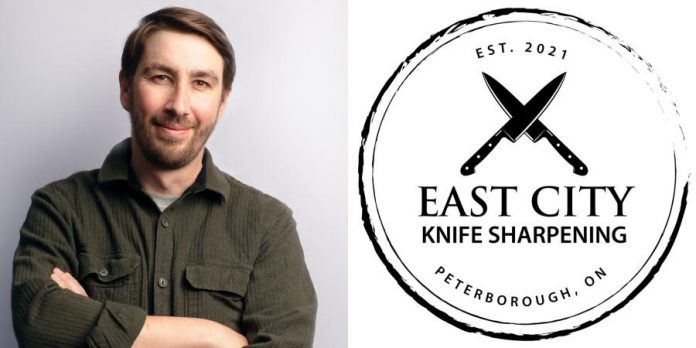 Former chef Chris Carvalho has launched East City Knife Sharpening. (Photo/graphic courtesy of East City Knife Sharpening)