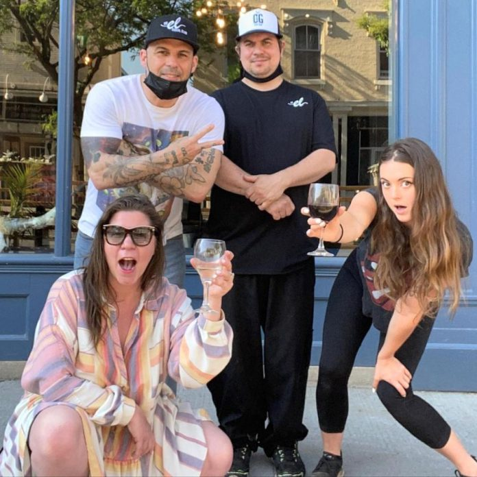The El owners Amanda da Silva (bottom left) and Greg da Silva (top left) da Silva pose with their restaurant's manager Maddy Thompson (bottom right) and chef Joe (top right).  Greg and Amanda believe making their restaurant a fun environment to work is the best way to get the most from their staff. (Photo: The El / Instagram)