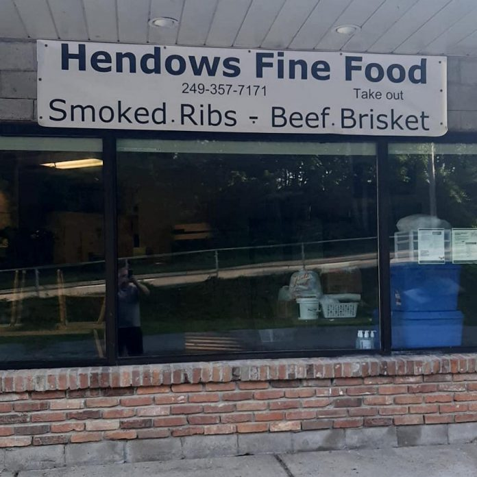 Hendows Fine Food is now located at 116 Parkhill Road in Peterborough, in the former Nicholls Oval Restaurant at the plaza where the Rotary Greenway Trail crosses Parkhill Road. (Photo courtesy of Warren Hennessy)