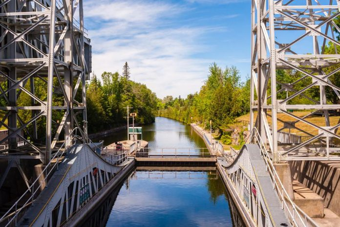The lift lock in Kirkfield in the City of Kawartha Lakes. (Photo: Rogers Communications media release)