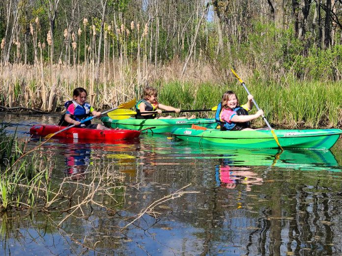 Liftlock Paddle Co. has a junior paddlers program for children aged six to 17. Grieder will take small groups on a guided river tour. Weeknight and weekend time slot are available. Grieder's oldest son Luka often comes along for junior paddles. (Photo courtesy of Liftlock Paddle Co.)