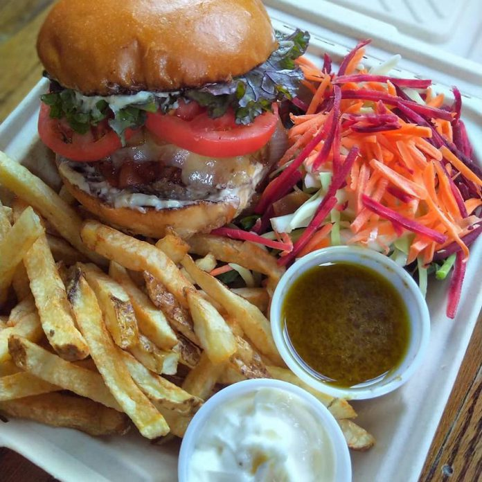 Previously only open for sit-down dining, both St Veronus and Le Petit bar began a takeout program during the pandemic. This 'Burger Pierrot' is an example of the Belgian-inspired food currently available for outdoor dining and takeout at St Veronus.  (Photo: St Veronus / Facebook)