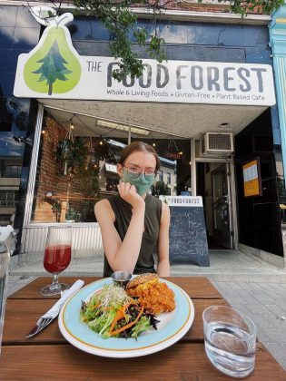 Lasair Wood bought The Food Forest from previous owners Katie Lynn and Adam Deck in 2018 when she was only 19 years old. Through hard work and with the support of loyal customers, she has succeeded in keeping Peterborough's only 100 per cent gluten-free and plant-based restaurant running during the pandemic.  (Photo: The Food Forest / Facebook)