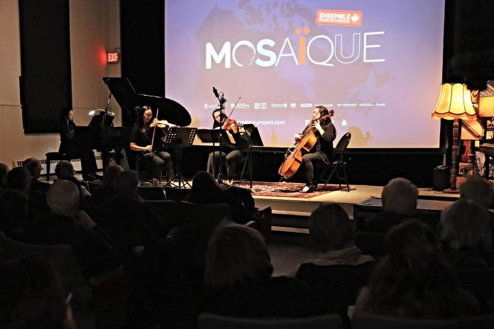 The Loft Cinema also hosts small live music events on its stage and is home to the Les AMIS chamber music concert series. Pictured is the Ensemble Made in Canada's unique Mosaïque Project in 2019.  (Photo: The Loft / Facebook)
