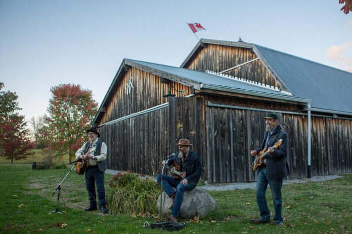 Westben's 'Welcome Back Weekend' will kick off on Friday, July 30th with a concert called 'Friends on the Hill', on Westben's new outdoor venue Willow Hill, featuring Campbellford's Ken Tizzard and Music for Goats (pictured performing for a Digital Concert at The Barn), Trent Hills musicians Jana Reid, Luke Mercier, Kim Dafoe, Out by Lucy and Robert Longo, and Westben's Donna and Brian Finley.  (Photo: Wayne Eardley, courtesy of Northumberland County)
