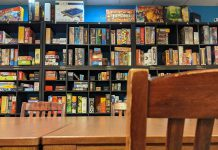 The Boardwalk Board Game Lounge in downtown Peterborough has over 550 games to play and also offers food and drink. Co-owners and brothers Connor and Dylan Reinhart opened the business after visiting board game lounges in other cities. Connor, who is a chef, and Dylan, who is an educator, grew up in Peterborough playing board games with their family. (Photo courtesy Boardwalk Board Game Lounge)