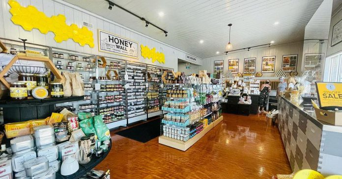 The Bee Works Honey & Gift Shop at Dancing Bee Equipment's new location at 5029 County Road 2 in Port Hope. Founded in 2020 by Todd Kalisz as a small apiary with only 16 hives, Dancing Bee has rapidly grown to become the top supplier of beekeeping equipment in Canada. (Photo: Dancing Bee Equipment / Facebook)