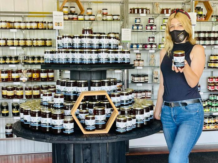 The Bee Works Honey & Gift Shop at Dancing Bee Equipment's new location at 5029 County Road 2 in Port Hope features a wide range of honeys, products made with honey, and more. The new location also includes a state-of-the-art bottling facility and a new 55,000-square-foot retail warehouse. (Photo: Dancing Bee Equipment / Facebook)