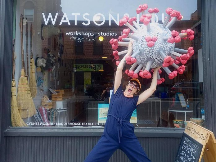 You can get a chance at revenge against the COVID-19 virus while helping the United Way by buying raffle tickets during Watson & Lou's fundraiser on September 3. The winner gets to smash a virus-shaped piñata. (Photo: Watson & Lou / Facebook)