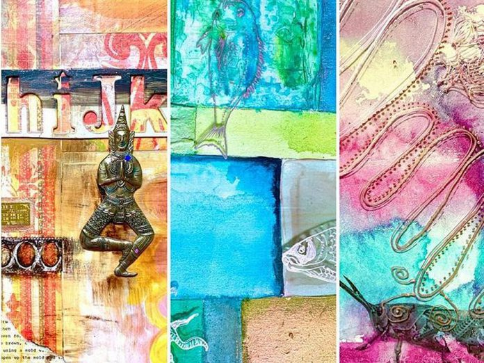 Kelly Albin of Blue Frogs Legs Studio will be exhibiting her works in an exhibition called 'Juxtaposition: A Mixed Media Series'. (Photo:  Blue Frogs Legs Studio)