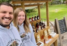 Husband-and-wife team Vince and Stephanie Frasca of Frasca's Ridge Maple Co. operate a maple cart in Douro-Dummer on long weekends, where you can buy made-from-scratch doughnuts, maple tarts, fudge, and more, all made from the maple syrup they produce on their three-acre property. You can also purchase some of their products anytime by contacting them on social media. (Photo: Frasca's Ridge Maple Co.)