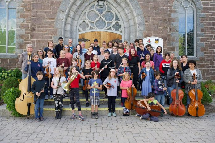 Kawartha Youth Orchestra is a non-profit organization committed to offering youth in the Kawarthas region an opportunity to learn symphonic music and perform. Along with the  Upbeat! Downtown program the organization has junior, intermediate, and senior ensembles, each of which requires a different degree of playing experience. The orchestra recently received the go-ahead from Peterborough Public Health to resume in-person rehearsals, although with pandemic restrictions in place.  (Photo courtesy of Kawartha Youth Orchestra)