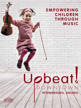 Although limited spots are available for the Upbeat! Downtown program, the Kawartha Youth Orchestra encourages those who are interested to apply and be placed on a waitlist in case there are any openings during the year. (Graphic courtesy of Kawartha Youth Orchestra)