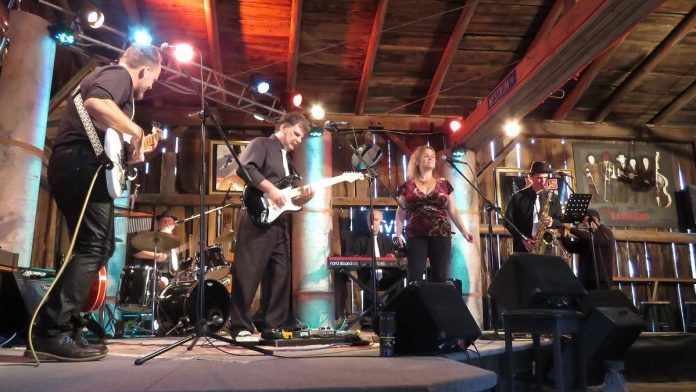 Groove Authority during their performance for season three of Live! At The Barn You can watch the band's performance on YouTube on October 1, 2021. (Photo courtesy of Andy and Linda Tough)