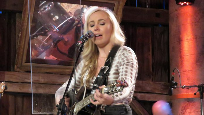 Elyse Saunders performs during her Live! At The Barn appearance. Her episode premieres on YouTube on September 24, 2021. (Photo courtesy of Andy and Linda Tough)