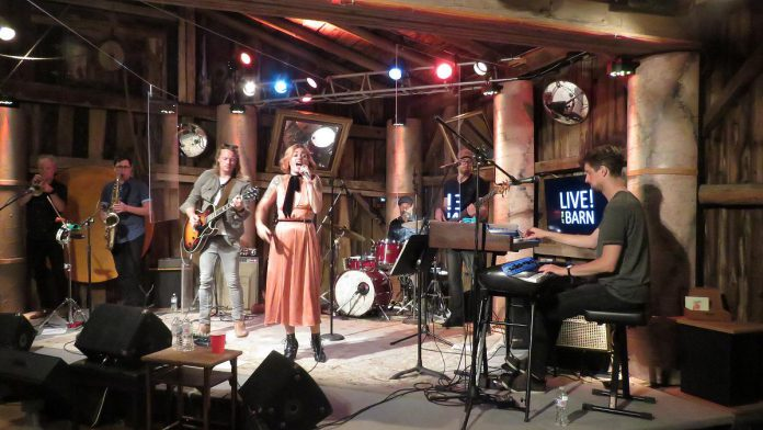 Bywater Call during their performance for season three of Live! At The Barn Their episode, the finale of season three, premieres on YouTube on October 15, 2021. (Photo courtesy of Andy and Linda Tough)