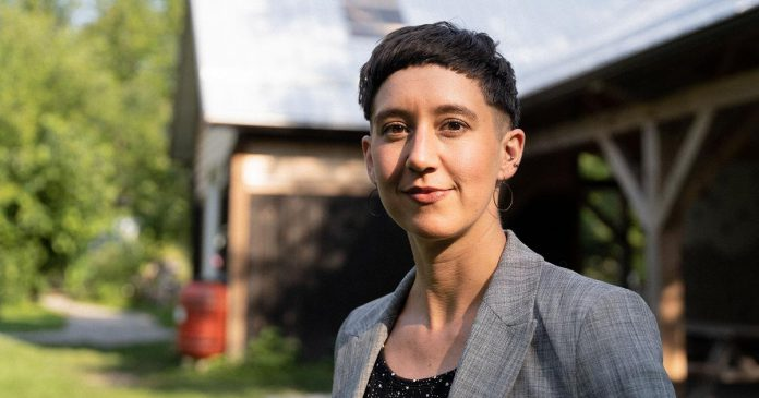 Tegan Moss, pictured at GreenUP Ecology Park, is the new executive director of Peterborough GreenUP effective September 7, 2021. (Photo: Tanner Paré)