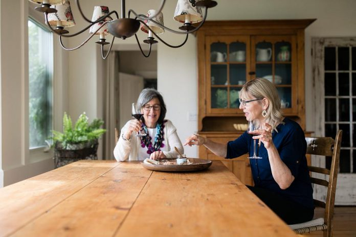 Both established entrepreneurs over the age of 55, South Pond Farm owner Danielle French and Walton Food Farm owner Leslie Scott are enthusiastic to be starting a new chapter of doing what they love. (Photo: Ash Nayler Photography)